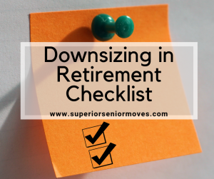 Downsizing in Retirement Checklist