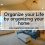 Organize your Life by organizing your home